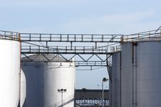 Free Large Storage Tanks Royalty Free Stock Images - 3413979