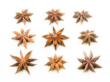 Star Anise Square Royalty Free Stock Image