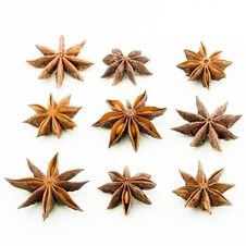 Star Anise Square Stock Image