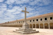 Free Cross With Old Monastery Royalty Free Stock Image - 3415976