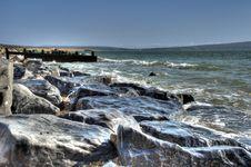 Weathered Coastal Rocks Stock Photography