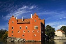 The Castle Cervena Lhota Royalty Free Stock Photo