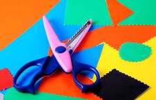 Free Colourful Paper And Scissors Stock Images - 3418114