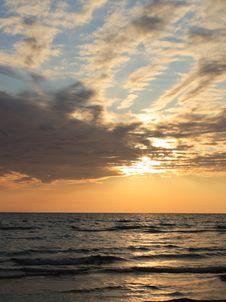 Sunset With Cloud Stock Photos