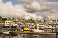 Free Yellow Boat At Marina Stock Photos - 3418893