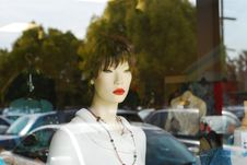 Free Window Mannequin Royalty Free Stock Image - 3419636