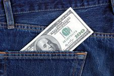 Dollar In Pocket. Royalty Free Stock Photography