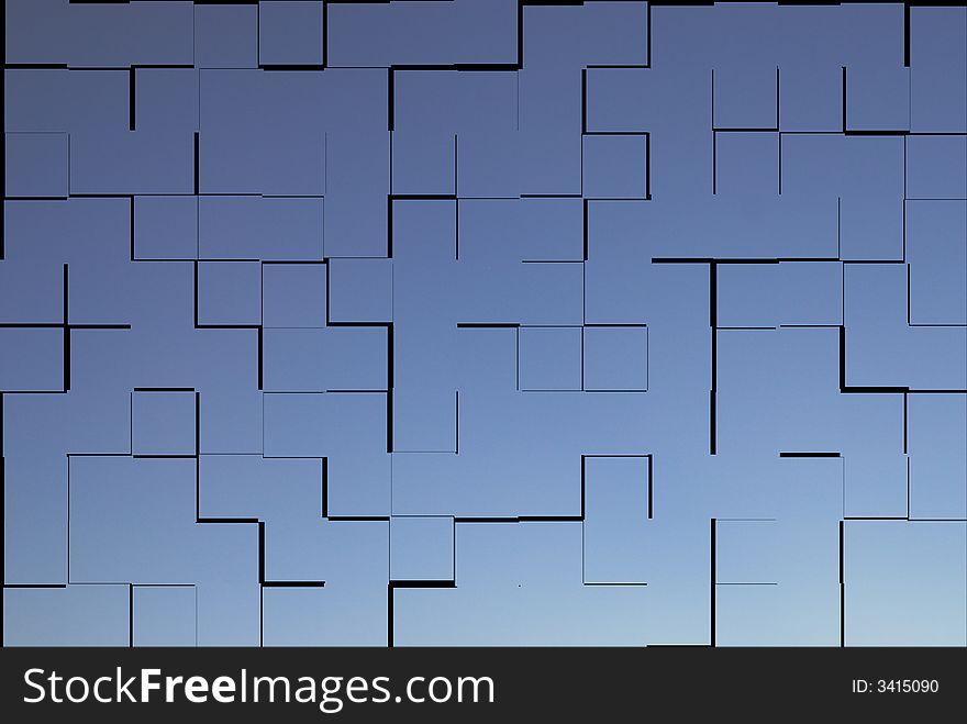 Tiles blue texture