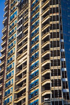 High-rise Building Under Construction Royalty Free Stock Photos