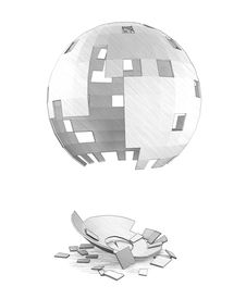 Free A Pencil Drawing Of Destroyed Sphere Stock Images - 34103634