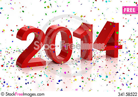 Free Happy New Year 2014 Stock Photography - 34158522