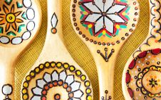 Free Wooden Ethnic Spoons. Stock Photos - 34156983