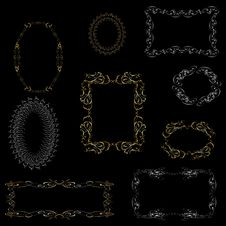 Free Ornamental Metall  Vector Frame. Royalty Free Stock Photography - 34157197