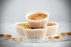 Four Muffins Stock Photo