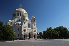 The Naval Cathedral Of Saint Nicholas In Kronshtad Stock Image