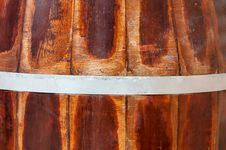 Old Wood Barrel Stock Image
