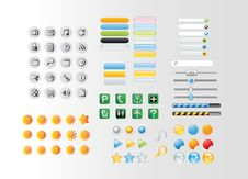 Free Buttons And Icons Royalty Free Stock Image - 34159586
