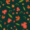 Free Autumn Seamless Background, Vector Illustration. Royalty Free Stock Images - 34163249
