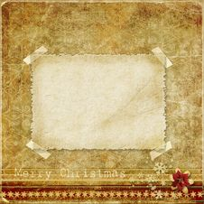 Free Christmas Vintage Background With A Card For Congratulations Royalty Free Stock Photo - 34162635