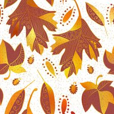 Free Vector Seamless Background: Autumn Royalty Free Stock Photos - 34162898