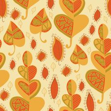 Free Vector Leaf Pattern.Leaf Background. Stock Photos - 34163173