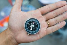 Free Metal Compass Stock Photography - 34165032
