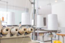 Garment Weaver Machine Stock Photo