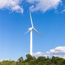 Free Electric Wind Mill Stock Photos - 34165373