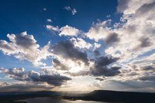 Free Vivid Clouds Sun Ray Stock Photo - 34165420