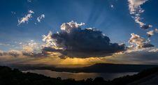 Free Vivid Clouds Sun Ray Stock Photo - 34165460