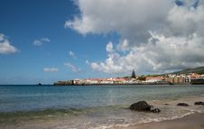 View On A Bay Of City Horta, Faial Royalty Free Stock Image
