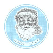 Santa Claus . Hand Drawn. Eps8 Royalty Free Stock Photography