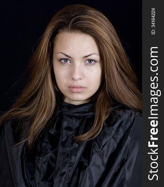 Lady in a black cape