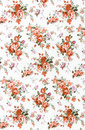 Free Rose Bouquet Design Seamless Pattern On Fabric As  Background Stock Images - 34176454