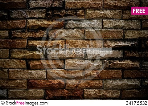 Free Brick Wall Background Stock Photography - 34175532
