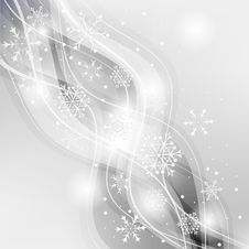 Free Gray Card With Snowflakes Stock Photos - 34171093