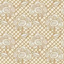 Seamless Lacy Texture Stock Image