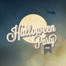 Free Happy Halloween Typography Stock Image - 34173631
