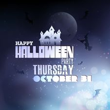 Free Happy Halloween Typography Stock Photography - 34173662