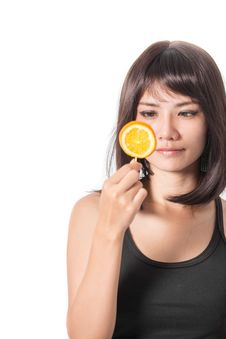 Free Woman With Oranges Stock Photo - 34178090