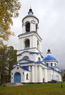 Church Of The Mother Of God In The Village Near Moscow. Royalty Free Stock Photos