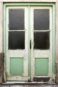 Free Old Green Double Doors Stock Images - 34178834