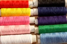Free Colorful Threads Stock Image - 34178911