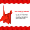 Free Red Paper Crane Origami Bird Stock Photos - 34187423