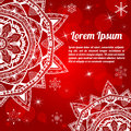 Free Invitation Christmas Card With Abstract Snowflakes Stock Images - 34187724