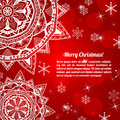 Free Invitation Christmas Card With Abstract Snowflakes Royalty Free Stock Photography - 34188117