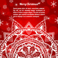 Free Invitation Christmas Card With Abstract Snowflakes Royalty Free Stock Photography - 34188317