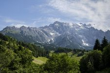 Mountains Panorama In The Morning Royalty Free Stock Photos