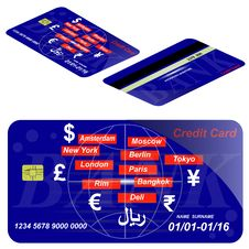 Free Card Credit Template. Royalty Free Stock Photos - 34182568