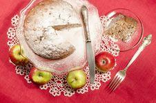 Free Applesauce Raisin Rum Cake For Christmas Table Stock Photos - 34182593